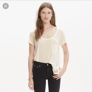 Madewell Anthem Scoop Tee Sz Small